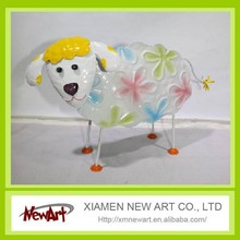 Cute metal sheep home and garden decorations sheep garden decoration