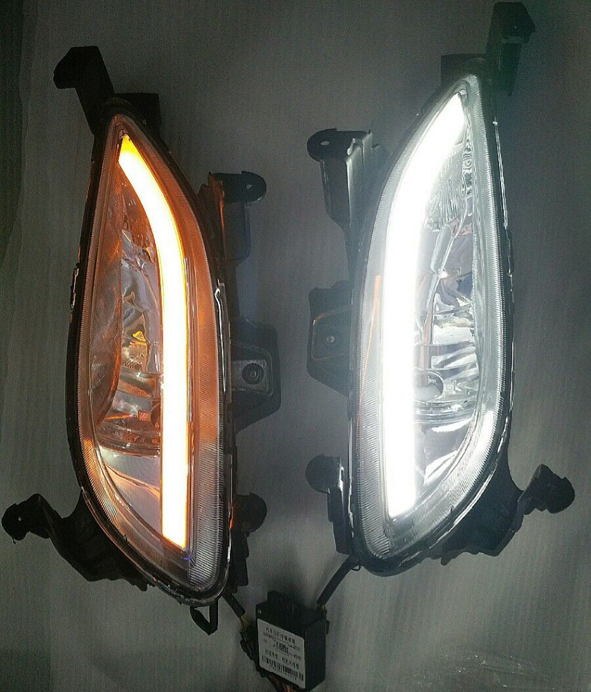 Fog lamp with daytime running light for Hyundai Sonata 2010-2012