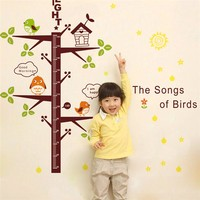 Selling Ecofriendly kids height measurement wall sticker growth chart