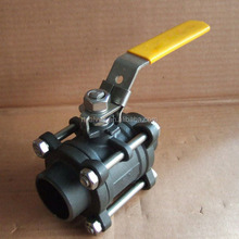 wcb cast steel 3pc ball valve dn50