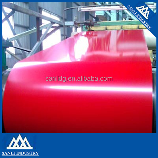 the Prepainted Gi Steel Coil / Ppgi / Ppgl Color Coated Galvanized Steel Sheet Roll In Coil From Hebei