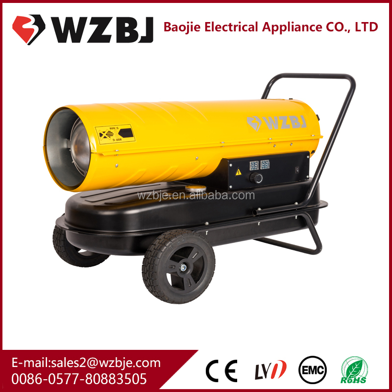 Europe standard mobile diesel heater industrial fuel oil heater with wheel