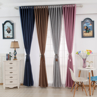 Bright velvet blcakout curtain in pure and minimalist for bedroom or balcony