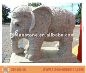 Big Stone Granite Elephant Sculpture (for Hotel Gate Decoration)