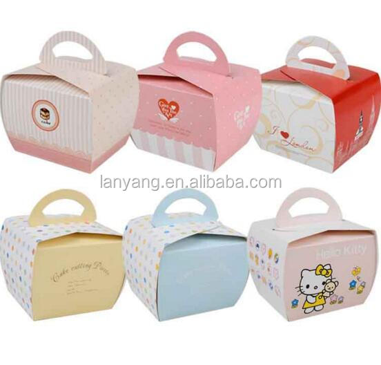 10.7*9.6*8.5CM Katgely Individual Cupcake <strong>Boxes</strong> with Handle