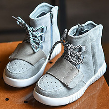 Latest Design Baby Yeezy Boots For winter Plush Warm Toddler Shoes Lace up Kids Boots