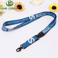 Promotion cheap custom polyester embroidered woven lanyards no minimum order