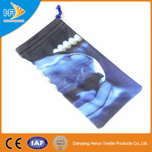 Hot sale custom photo printed single string pouch for smartphone