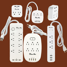 2 outlet surge adaptor with dual USB, 5v/2.4a, electrical socket, on/off switch, Surge Protector 8outlet 2USB surge adaptor