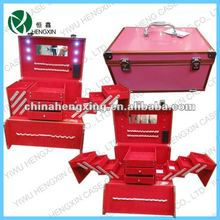 professional makeup case with lights,lighted makeup station,makeup case with drawers