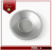 disposable elegant golden/silvery 7inch bowl/plastic round plate sets/beer pong red cups