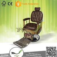 Retro classical Barber Chair comfortable durable big barber chair with Diamond button decoration