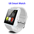 New MTK6261 Touch Screen Bluetooth 3.0 Pedometer Smart Watch U8 for Android
