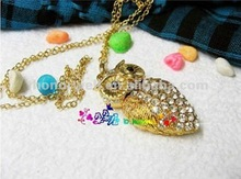 Halloween gift owl shape usb flash drive as necklace