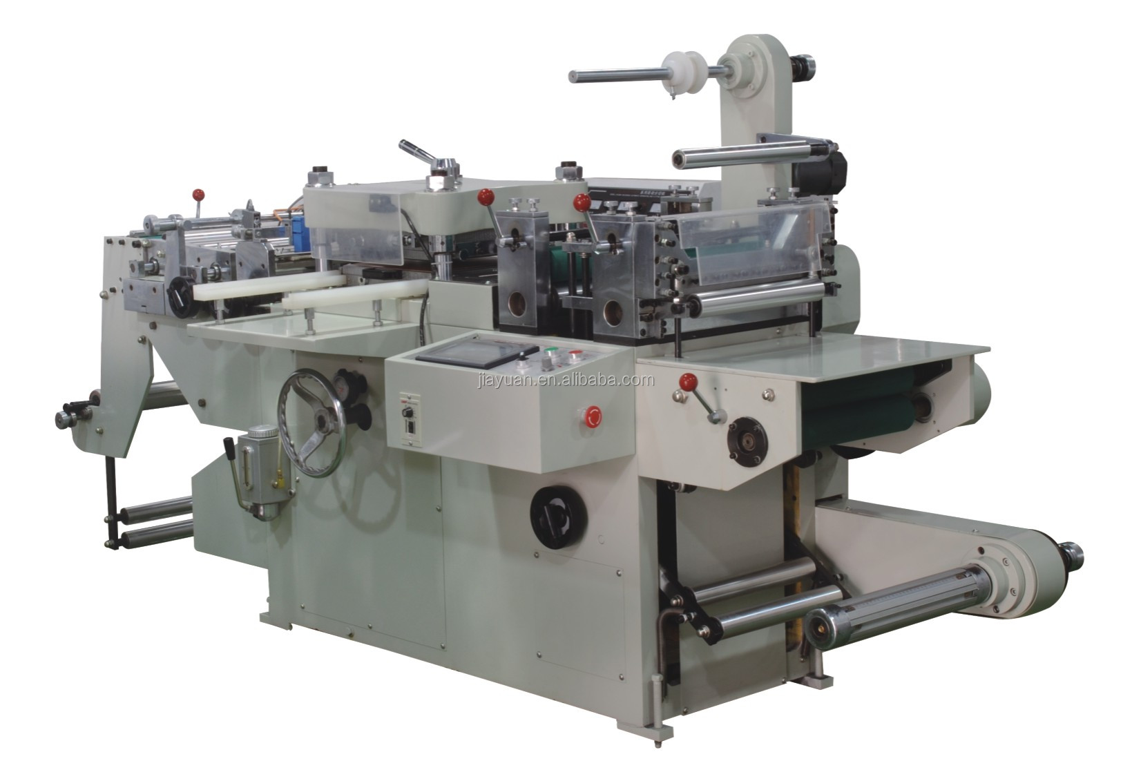 CE approved flat-bed die cutting machine with hot stamping device