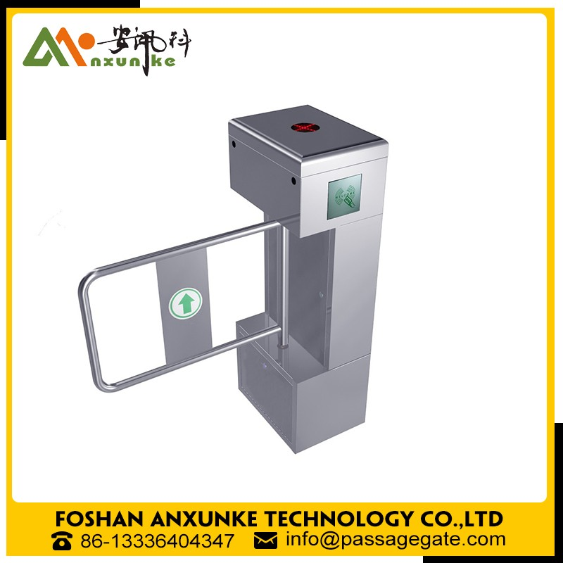 china supplier 304 stainless steel entrance security swing gate