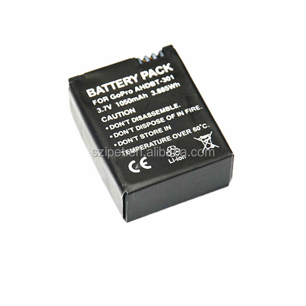 1050mAh battery for Gopros Heros 3+/3, battery for gopros heros camera,,GP36