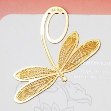 Ywbeyond Wholesale lovely bronze dragonfly bookmark unqiue birthday party door gifts, wedding party return goods for guest