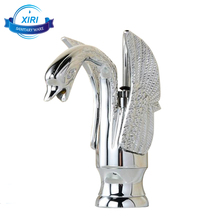 Chromed brass swan basin mixer tap animal shape unique bathroom faucets 1052-3