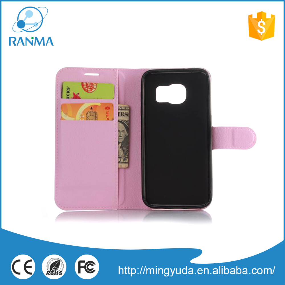 Thin Smart Flip pu leather cell phone case for Samsung