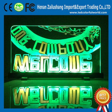 Alibaba Sign In Transparent Fluorescence Board Bar Counter BillBoard Light LED Drawing Display DC 12v