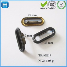 Black Oval shaped metal Grommet Eyelets For Canvas Clothes Leather