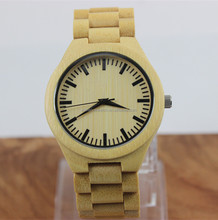 2016 newest charm fashion unisex nature color bamboo watch with miyota japanese movment wood watch from China factory