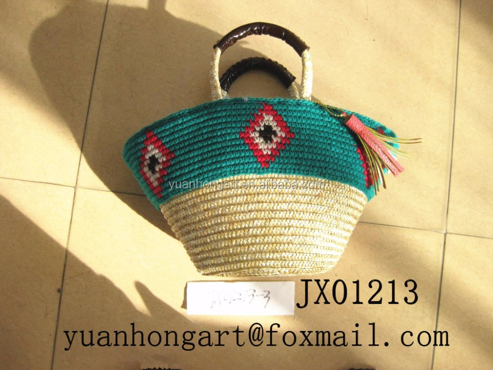 fashion wheat straw bag ladies bag JX01213