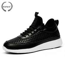 High top designer sneakers shoes for man woven footwear design black leather sneakers