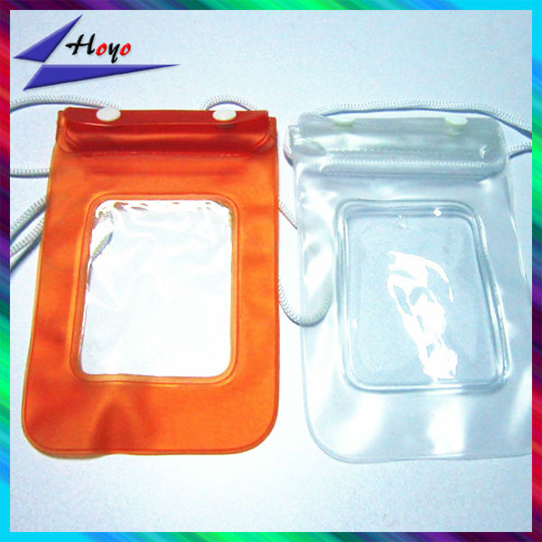 Universal PVC Waterproof Plastic mobile phone case bag With Strap