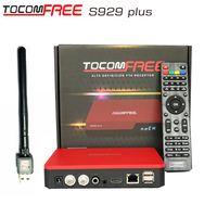 satellite receptor Tocomfree S929 plus support wifi 3G iptv function tocom free s929 plus digital satellite receiver for Chile