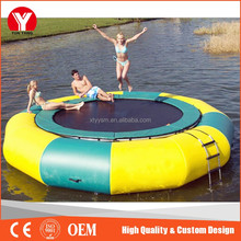 2016 hot sale PVC inflatable water trampoline 25ft