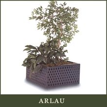 Arlau vintage wooden furniture,cheap galvanized metal bucket,planter metal flower pot