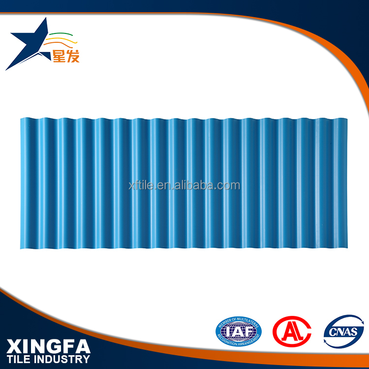 New roofing materials corrugated flexible plastic pvc roofing sheet for shed