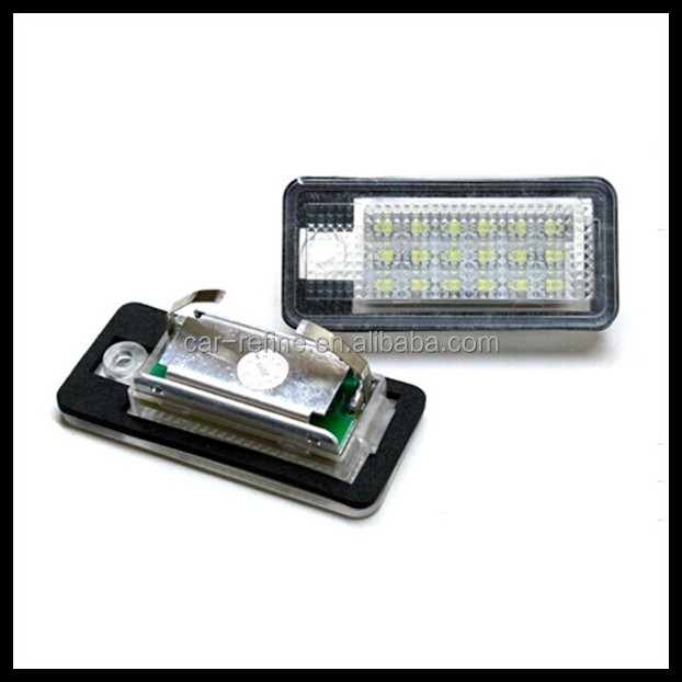 Hot sales ! For AUDI Q7 LED Number License Plate Light For A3 Cabriolet S3 A4 S4 C6 A8 S8 S6