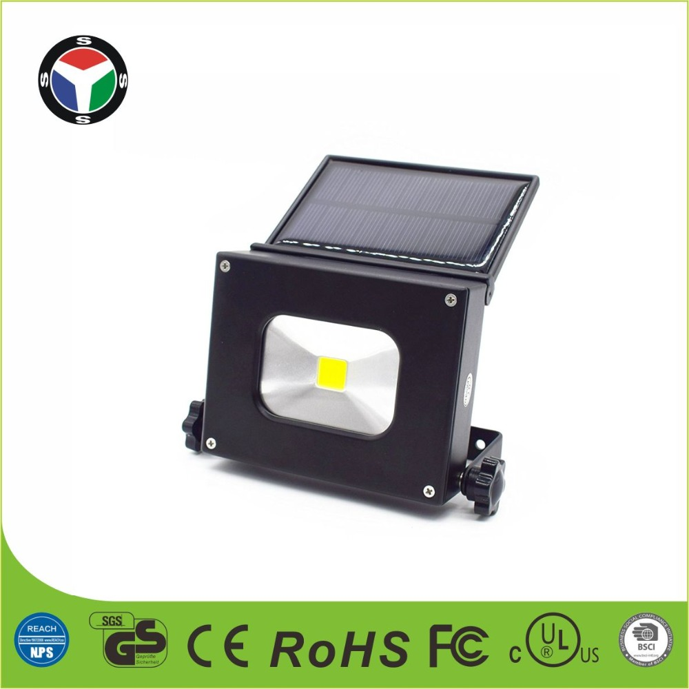 10W Utility Rechargeable Portable LED Pocket Flood Light With Solar Panel