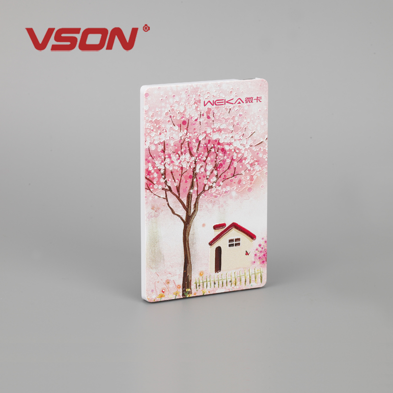 factory price 1000mah ultra slim name card power bank for mobile phone