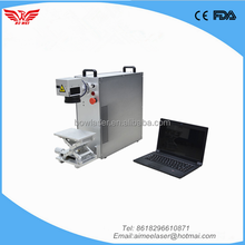 best price ce raycus/super mini portable 20W 30W fiber laser marking machine for metal ring for sale