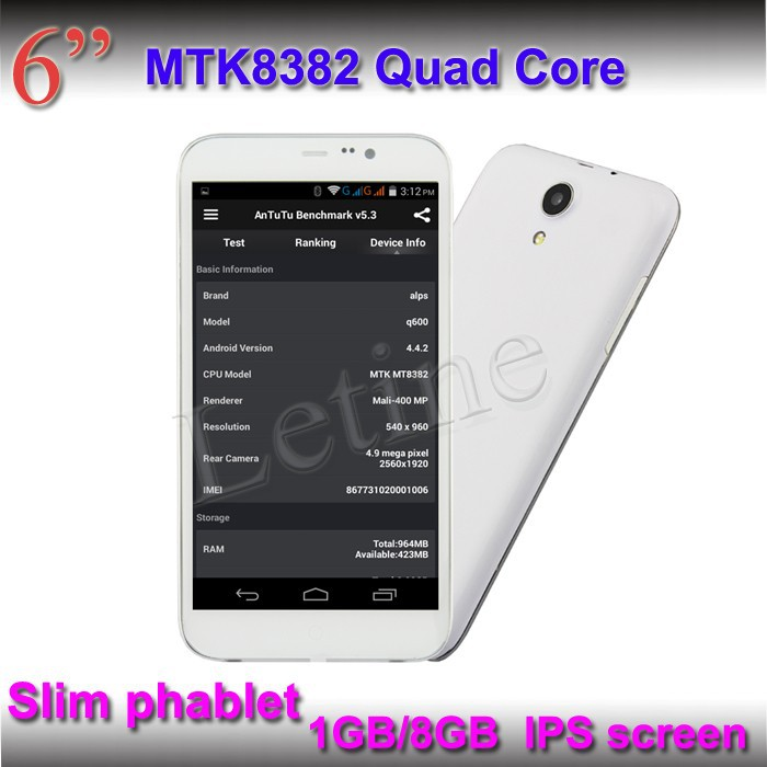 High Pixels 960*540 phone android 4.4 tablet PC GPS,mobile phone and tablet pc perfect combination