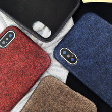 Retro metal style phone case for iphone 8/8plus utral-thin soft shell leather case for iphone x/7