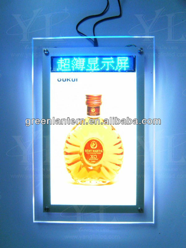 Crystal LED light box with video