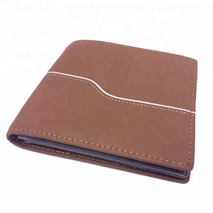 Custom wallets leather men money clip RFID blocking credit card leather wallet