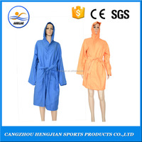 2016 factory wholesale cheap funky comfortable hooded long robes for women