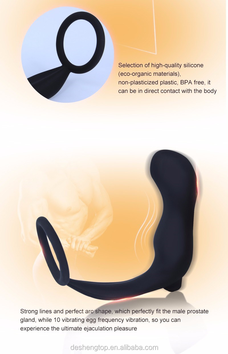 Male vibrator for G point Stimulate Anal Plug cockring lock Male anal sex toys
