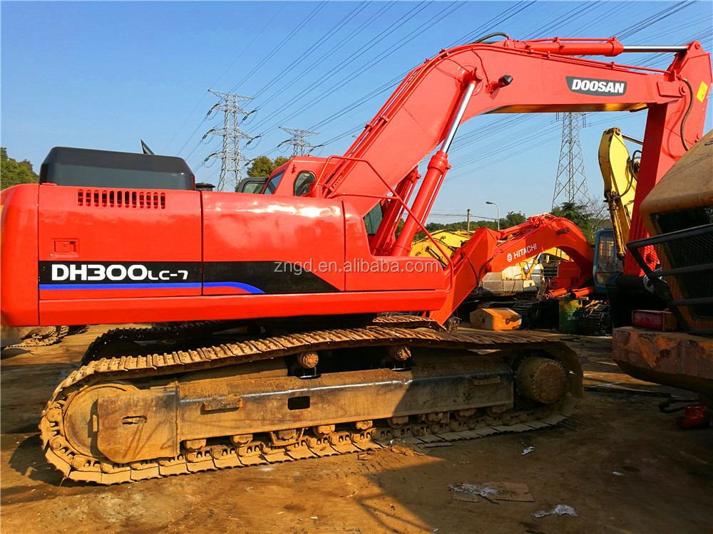 used original south korea Doosan dh300lc-7 crawler excavator, hydraulic system doosan crawler excavator for sale