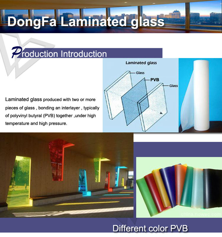 Laminated glass for stair