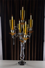 WEDDING, EVENTS, PARTY, CRYSTAL CANDELABRA FEATURES: COLOUR - GOLD STYLE - MODERN ART UNIQUE FINISHED - GOLD PLATED