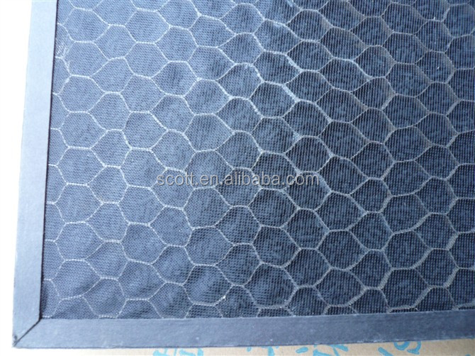 permeation rate with 97% honeycomb activated carbon filter