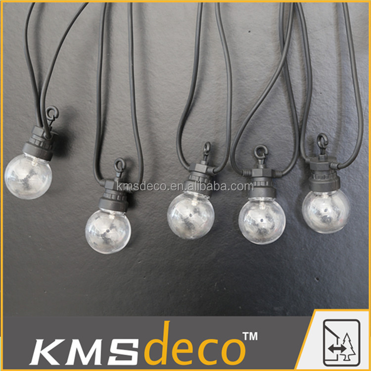 Garden Decoration Outdoor Clear Globe String Lights
