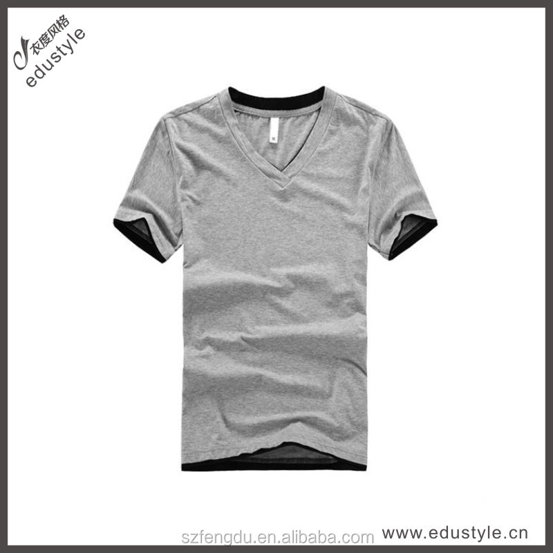 Wholesale plain cotton spandex t shirt with 95 cotton 5 spandex t shirts